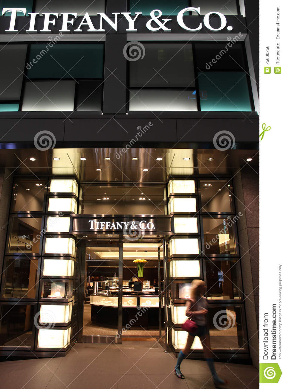 2b3b26bc9 TOKYO - MAY 8: Shopper walks out of Tiffany & Co store May 8, 2012 in Ginza  district, Tokyo. According to Millward Brown Tiffany & Co is among top 10  most ...