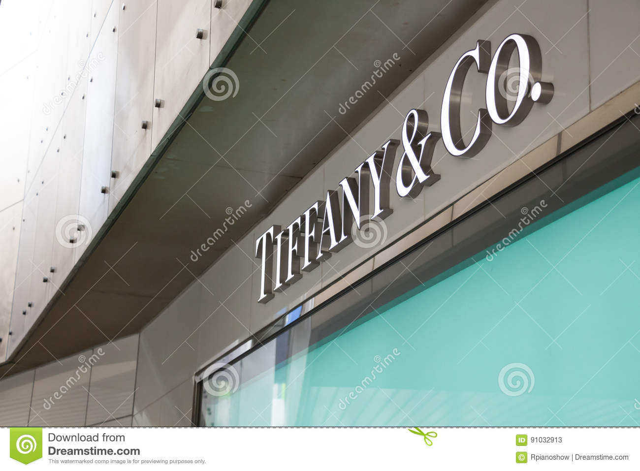 00205fa6a Tiffany And Co. Logo Sign In Tokio. Editorial Stock Photo - Image of ...