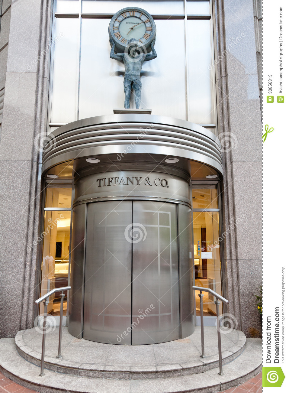 Tiffany co storefront entrance editorial stock photo for Shouse designs