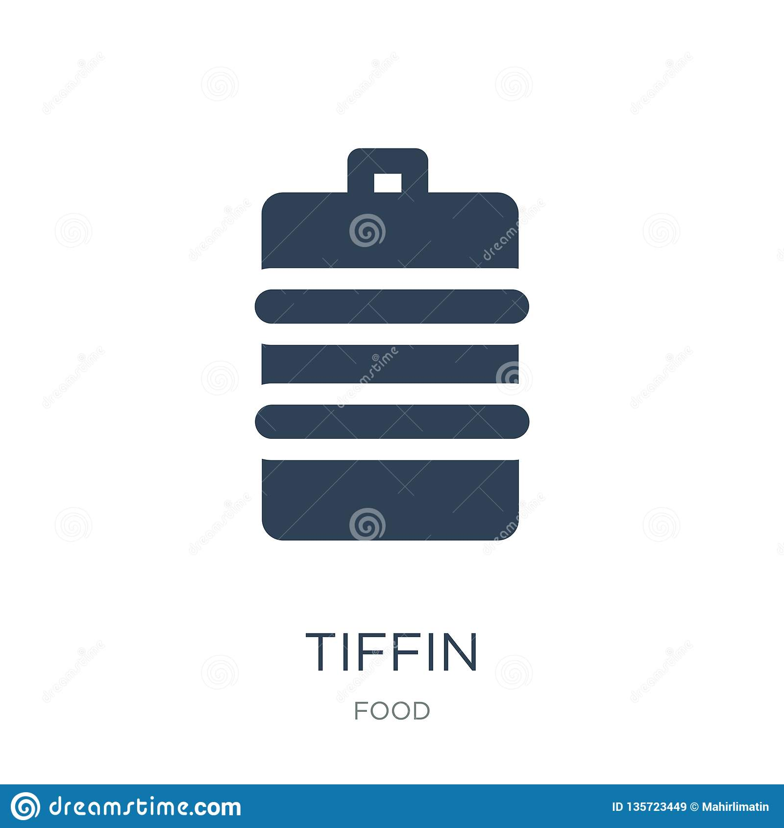 Tiffin Ikone in der modischen Entwurfsart tiffin Ikone lokalisiert auf weißem Hintergrund einfaches und modernes flaches Symbol d