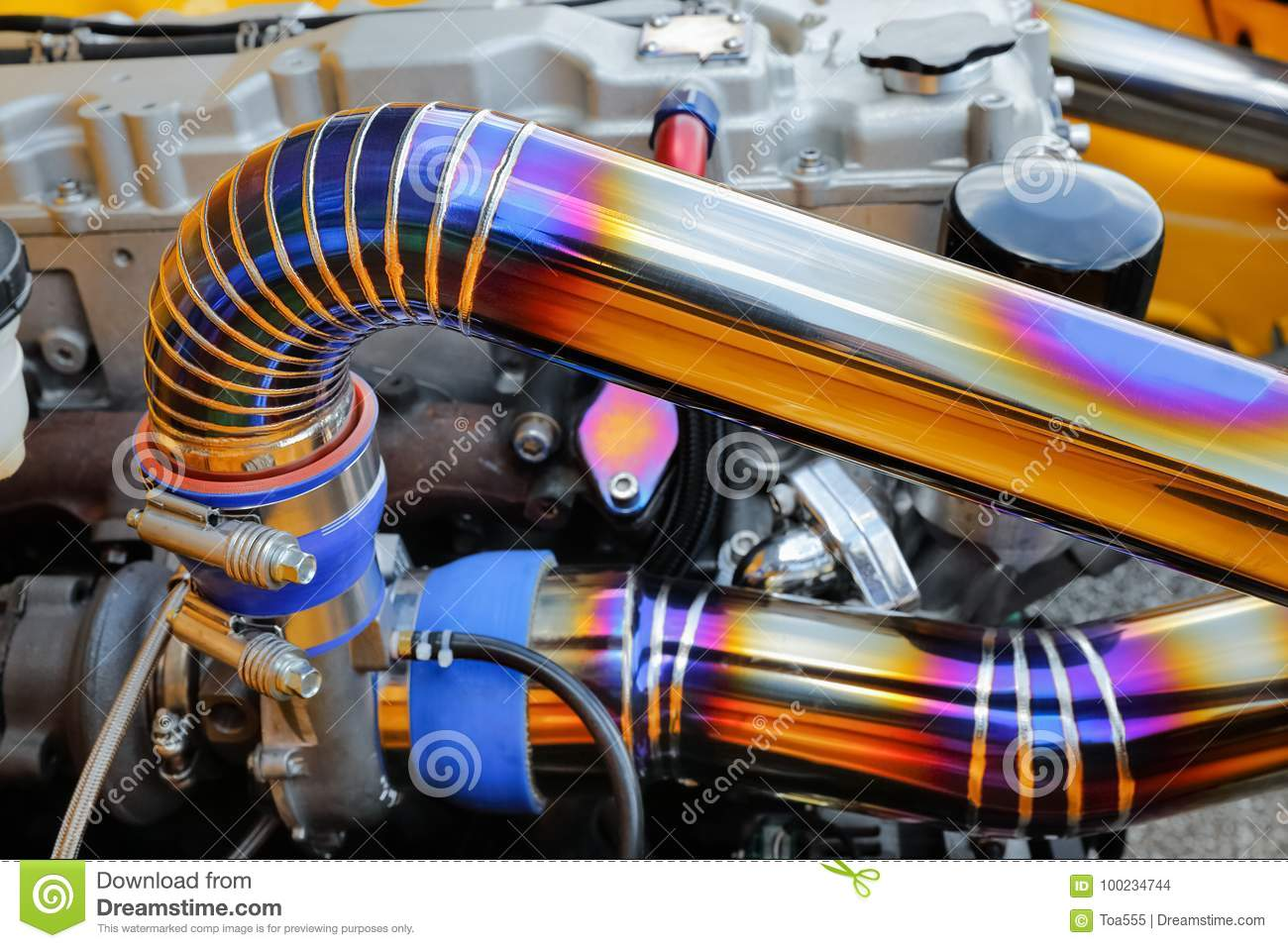 Tig Welded Seam On Stainless Steel Pipe In Race Car Stock Photo Image Of Production Stainlees 100234744