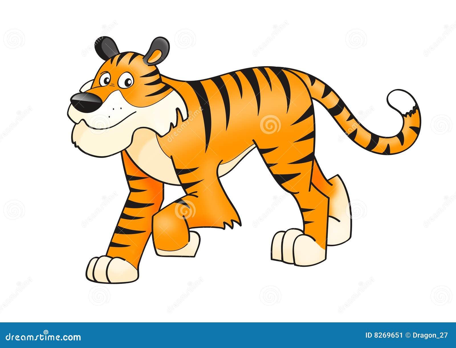 Download Tiger stock vector. Illustration of mascot, animal, clip - 8269651