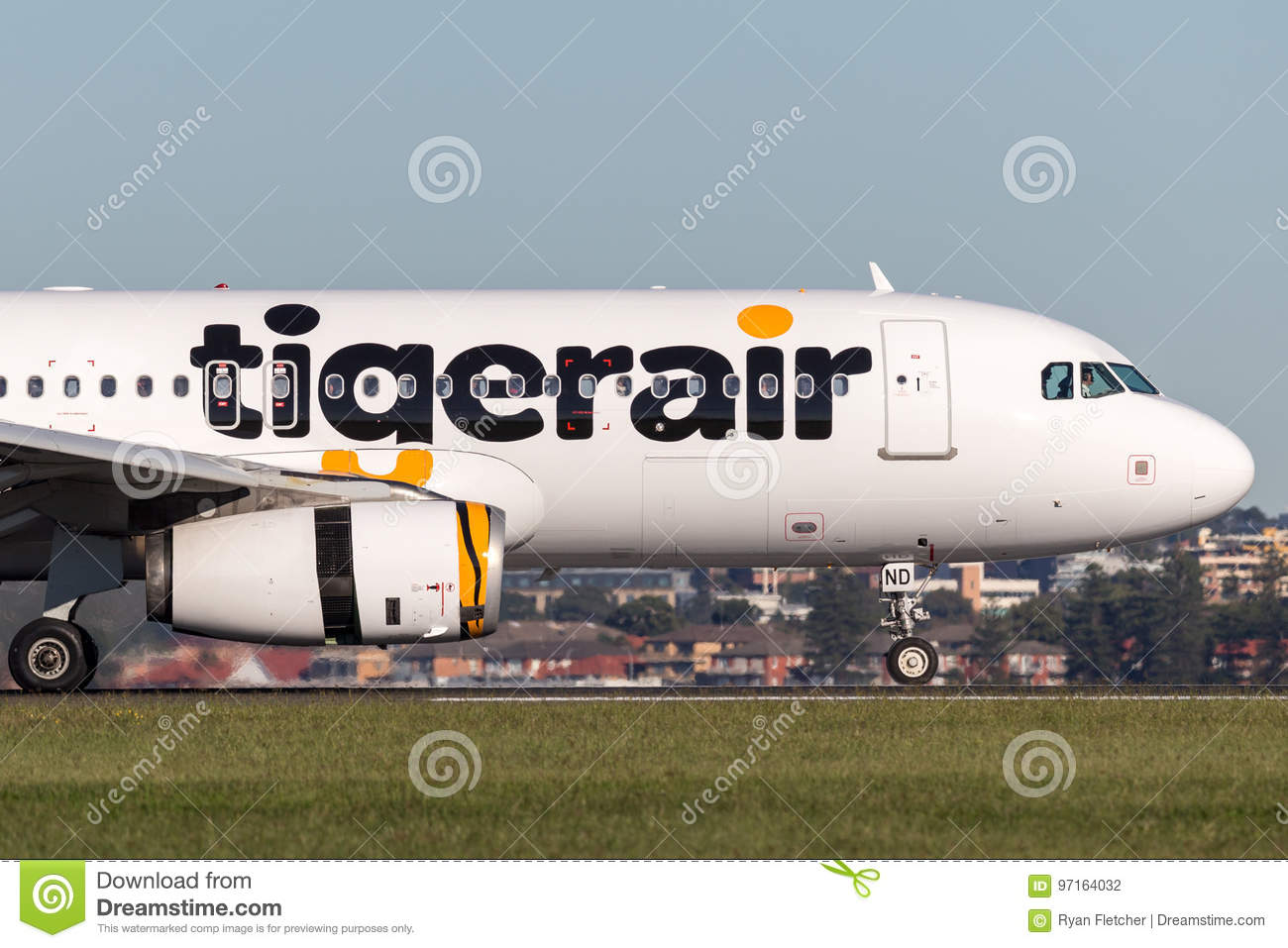 Tiger Airways Tigerair Airbus A320 aircraft at Sydney Airport.