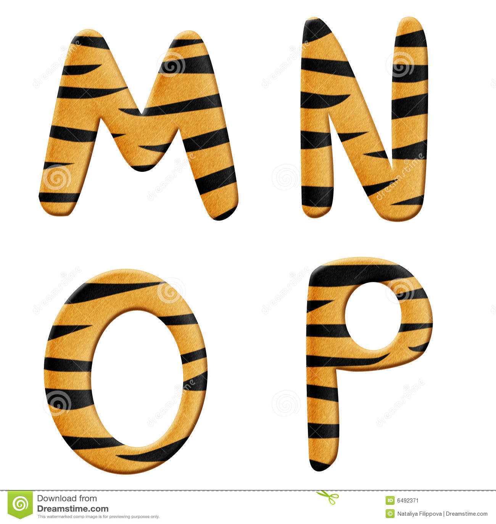 Tiger alphabet part 4