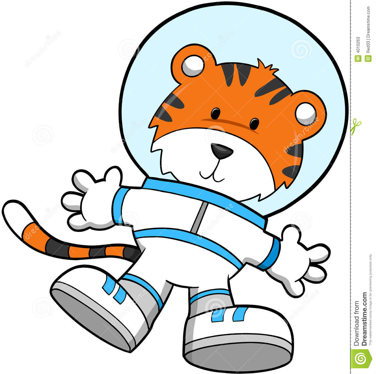 Download Tiger Astronaut stock vector. Illustration of spacesuit - 4010263
