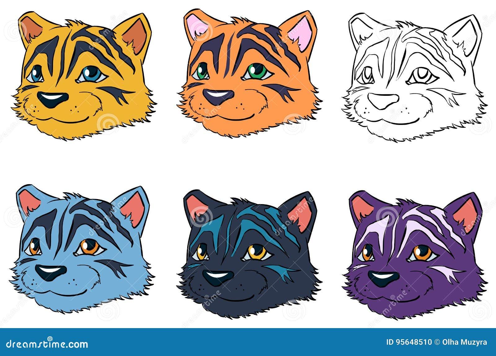 Tiger Cartoon Stock Vector Illustration Of Animals Dark 95648510