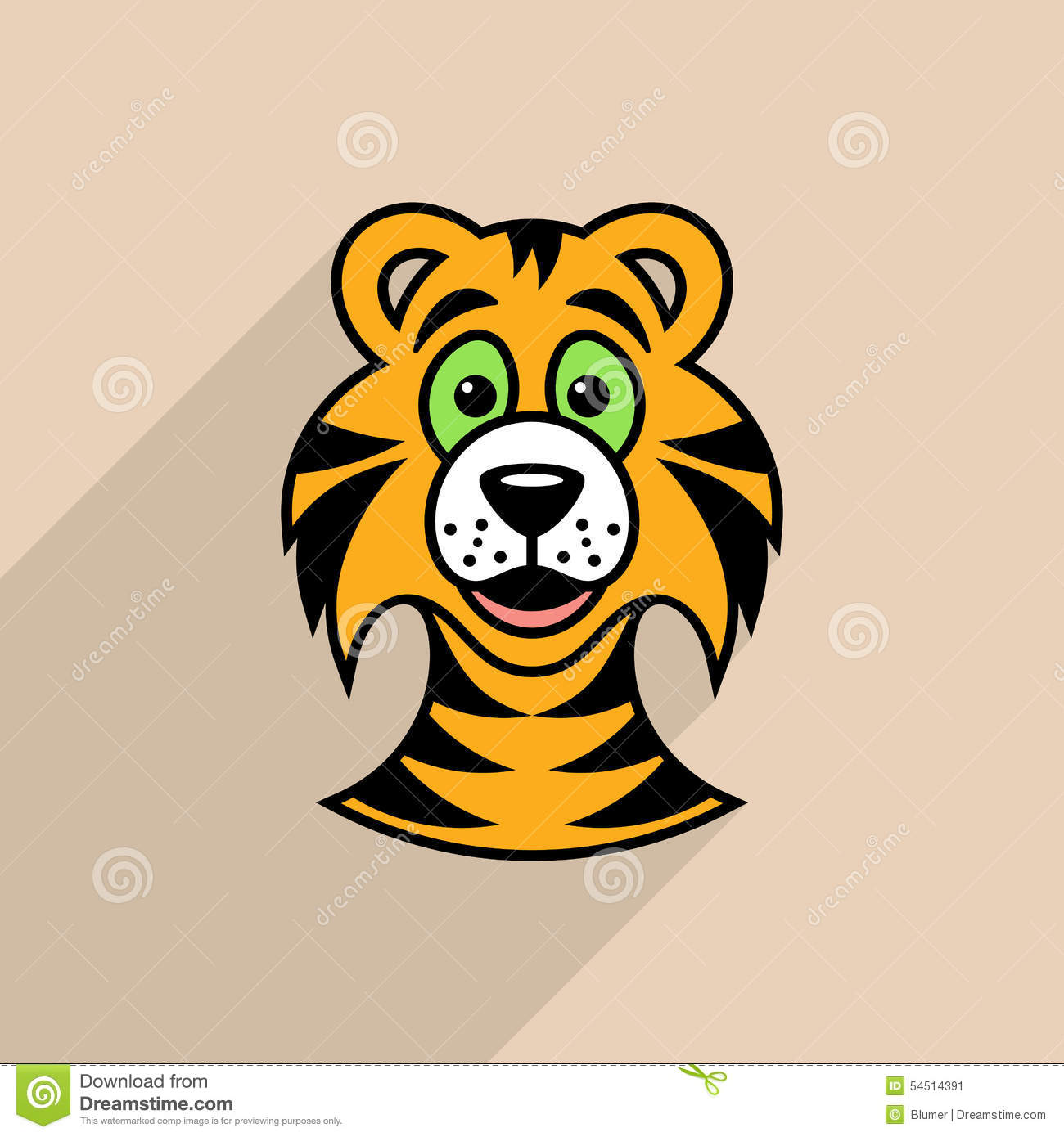 cute cartoon tiger drawing