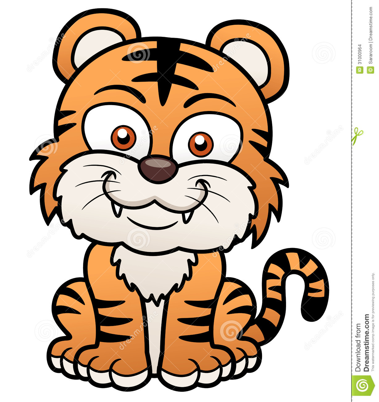Cartoon Tiger Picture Page 1