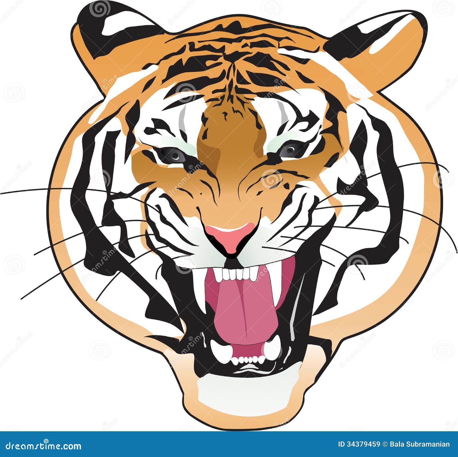 tiger stock illustration illustration of wild clip 34379459 rh dreamstime com  free wildlife clipart