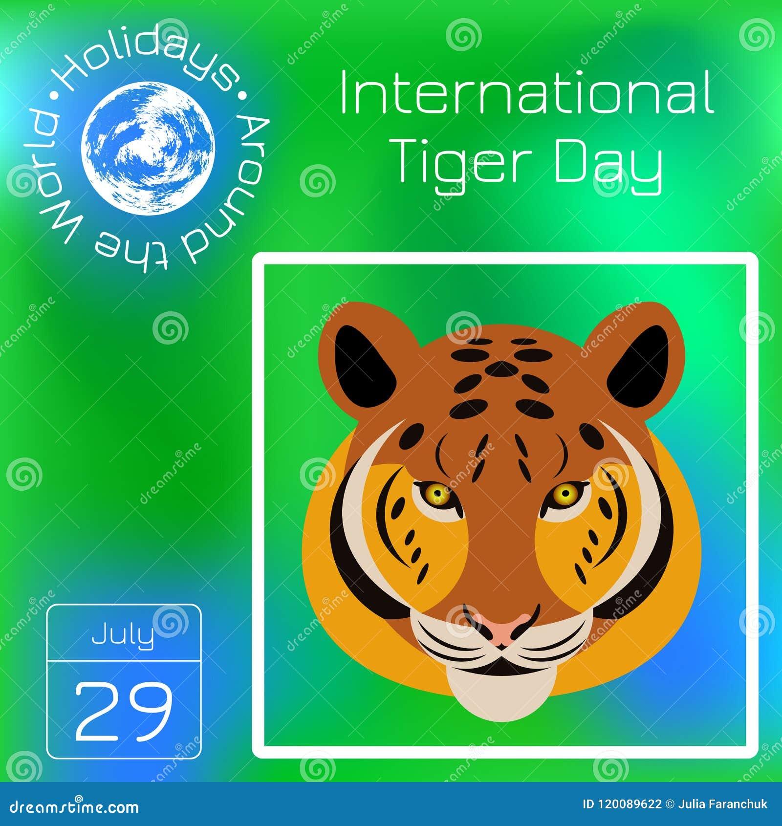 Calendario Internazionale.Tiger Day Internazionale 29 Luglio Il Mammifero Selvatico E