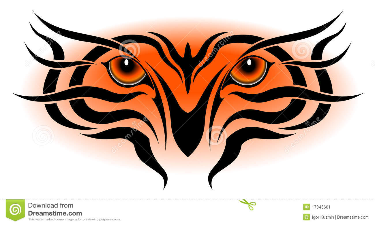eyes tattoo tribal 17345601   Tribal Stock Image: Tiger Image Tattoo Eyes,