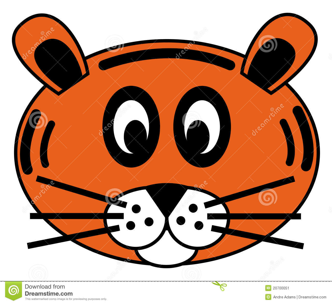 Tiger face stock vector. Image of mask, logo, tiger ...
