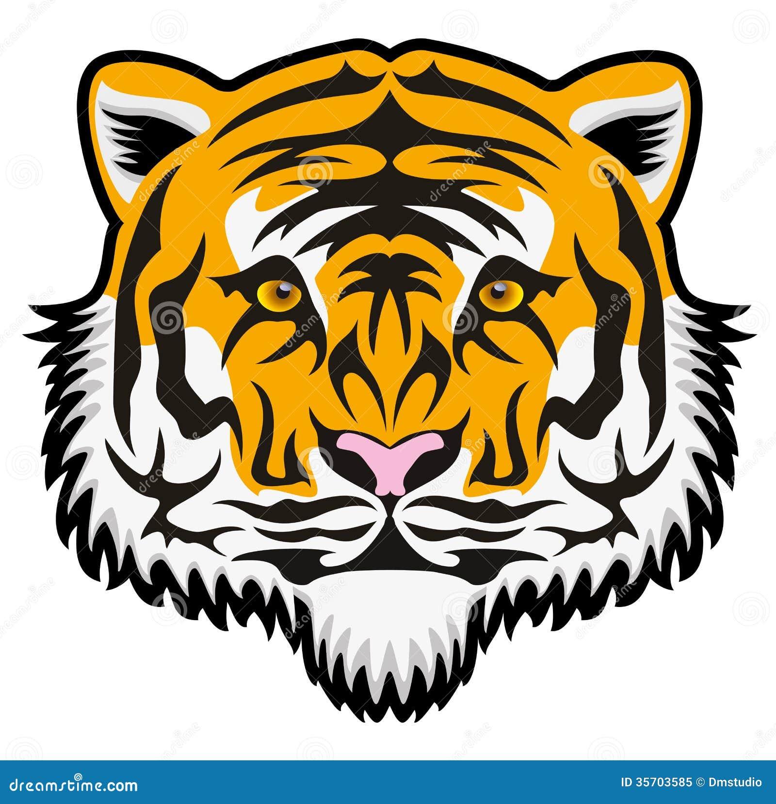 vector tiger face stock vector illustration of isolated 35703585 rh dreamstime com cute tiger face clip art