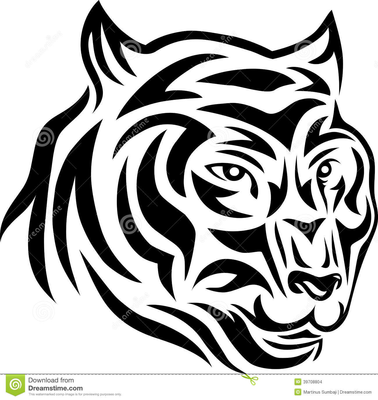 tiger face tribal stock vector image 39708804. Black Bedroom Furniture Sets. Home Design Ideas