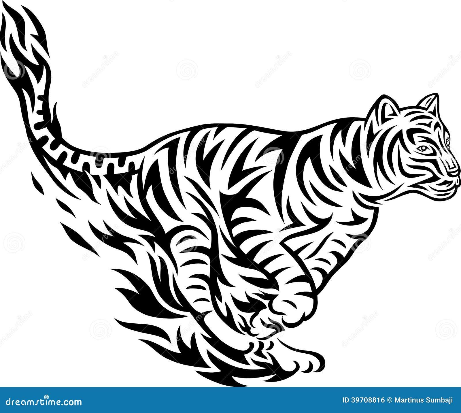 Tiger fair tribal stock vector. Illustration of creative ...