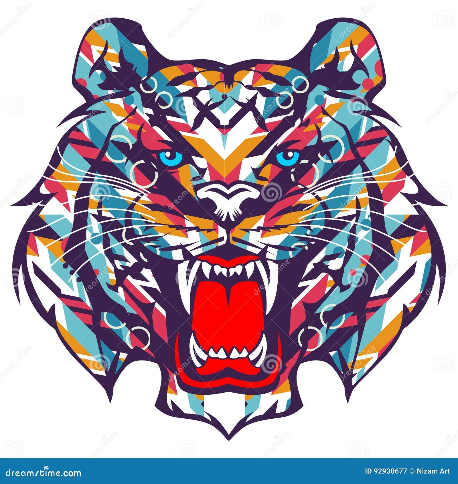 Tiger Graffiti Vector Stock Vector Illustration Of Cool 92930677