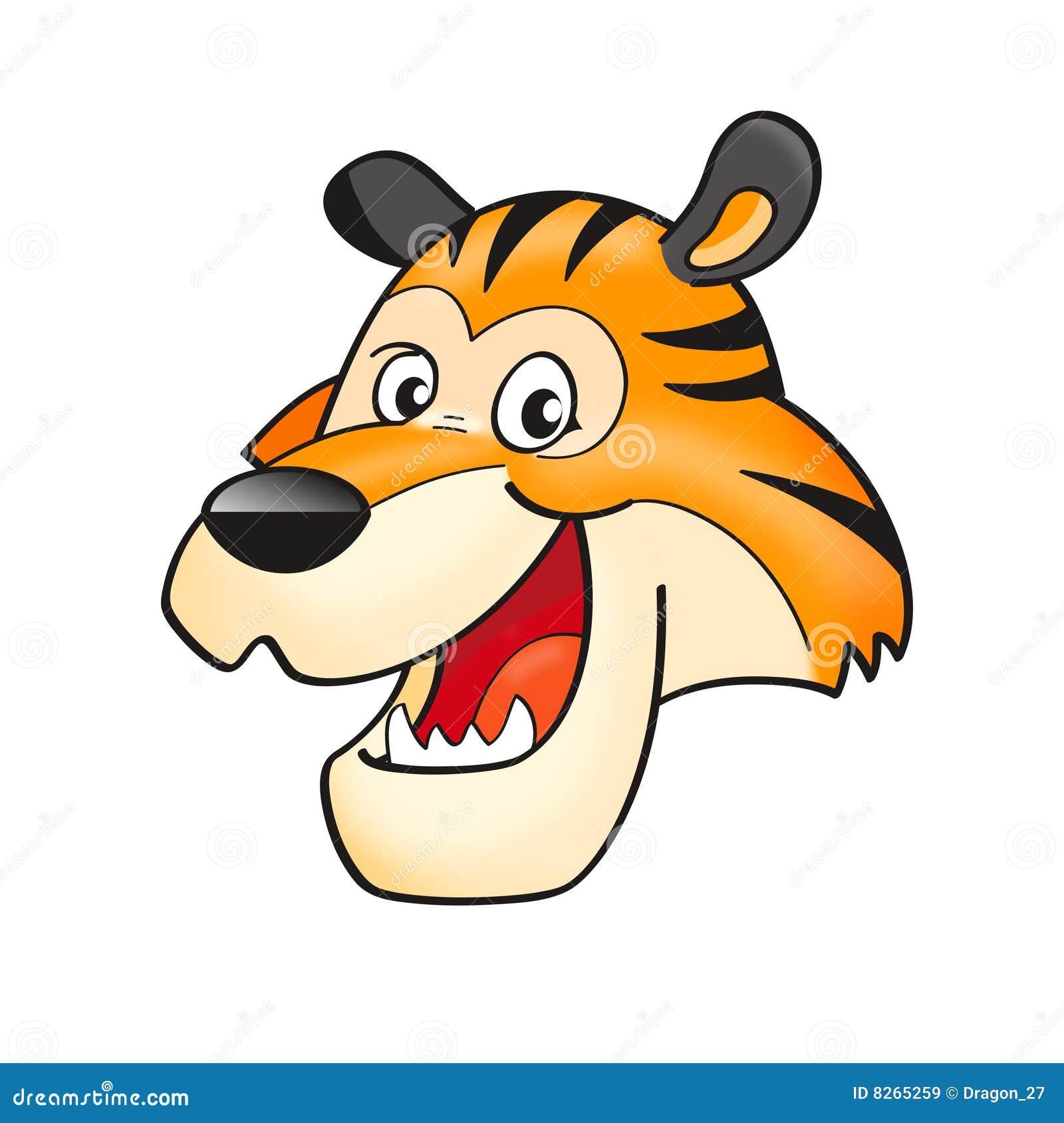 Tiger head stock vector. Illustration of drawing, feline ...