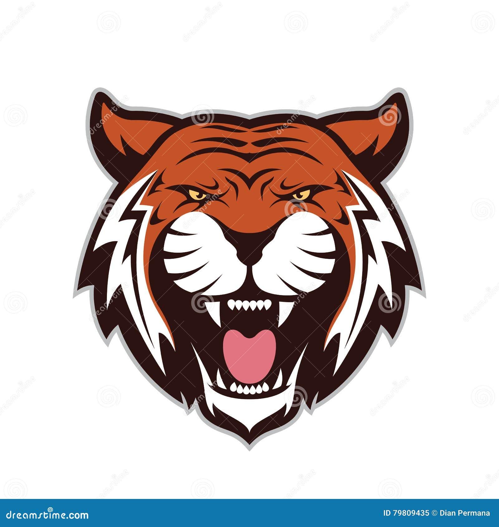 Tiger head mascot stock vector. Illustration of side ...