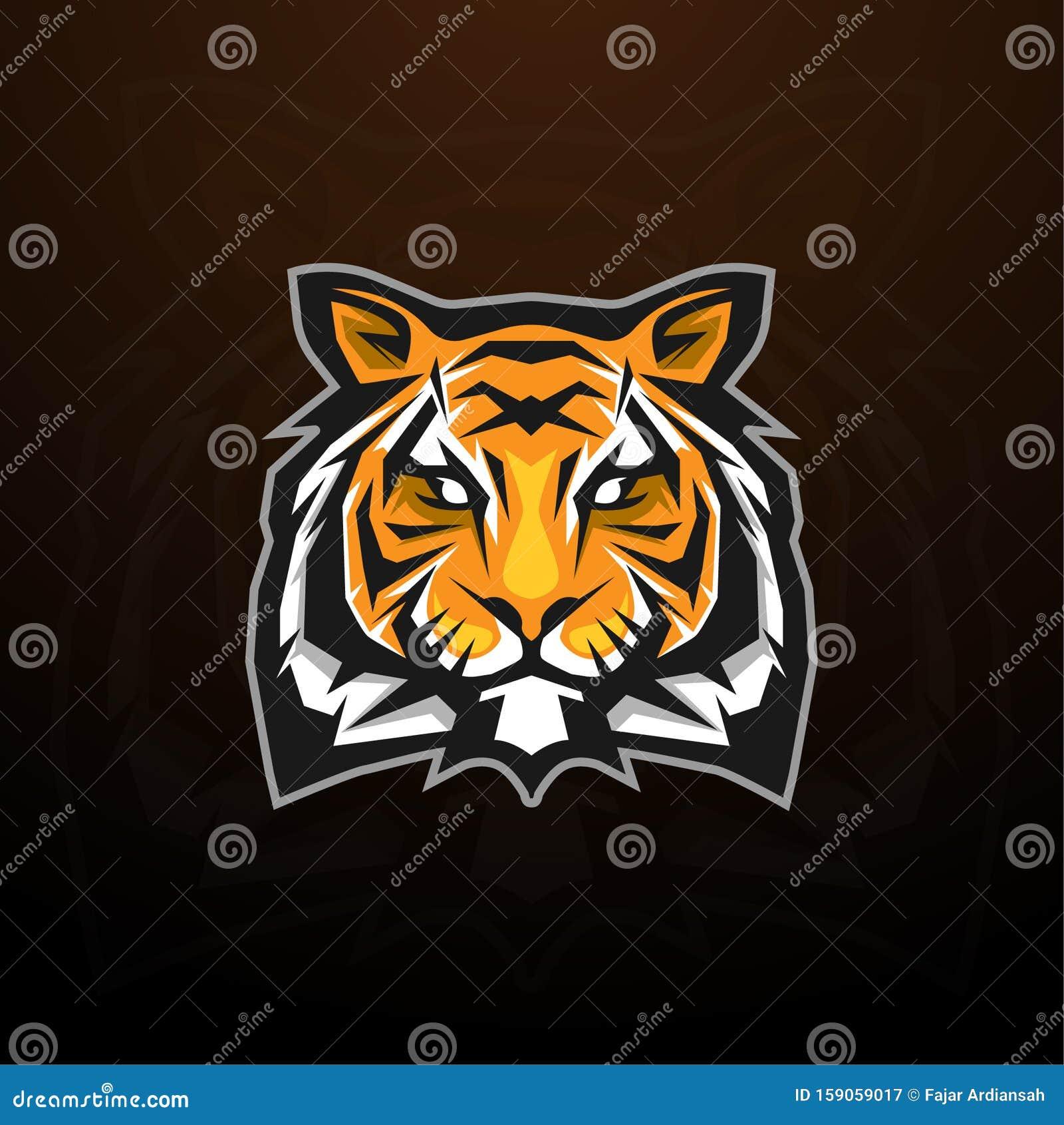 Tiger head mascot logo concept