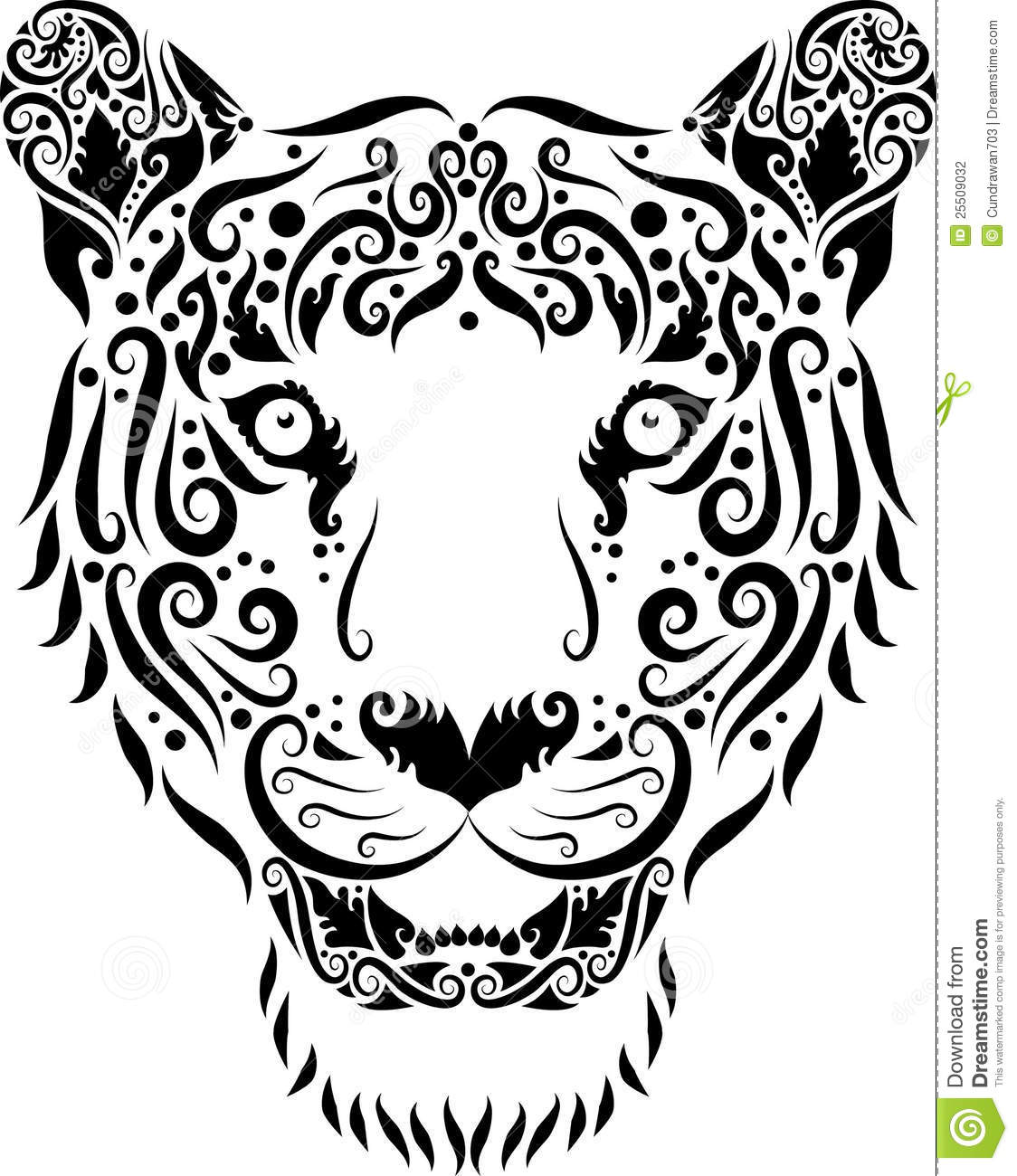Tiger Head Ornament Stock Photography Image 25509032