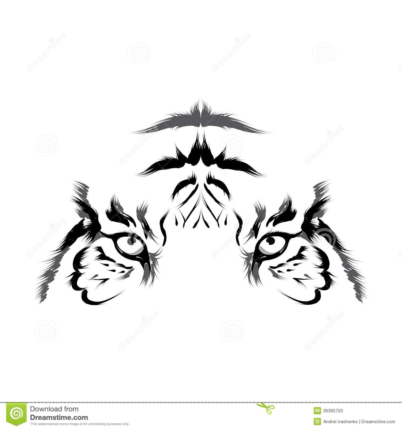 Tiger (head Outline Vector) Stock Photos - Image: 36365703