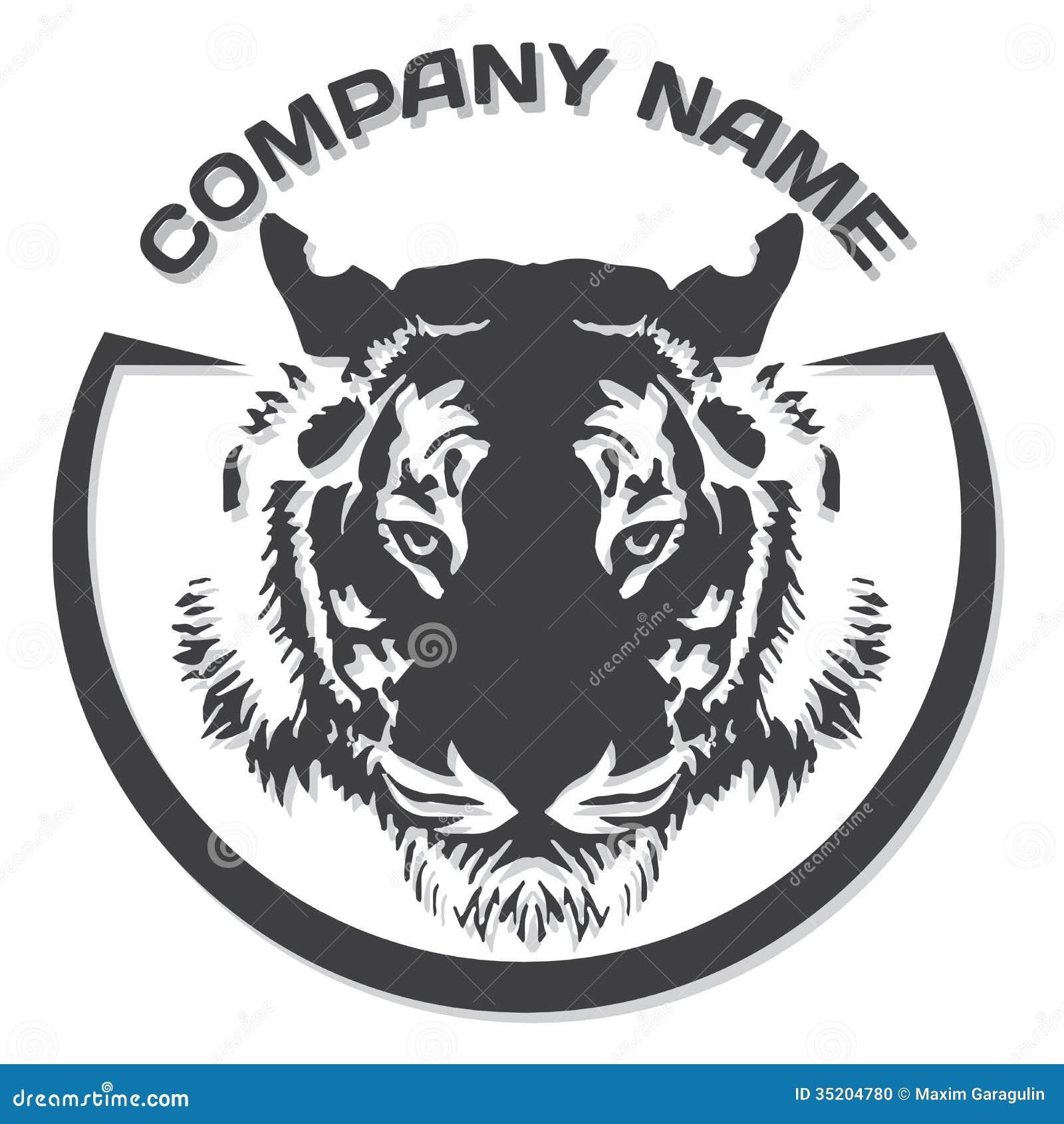 tiger head silhouette  vector stock vector