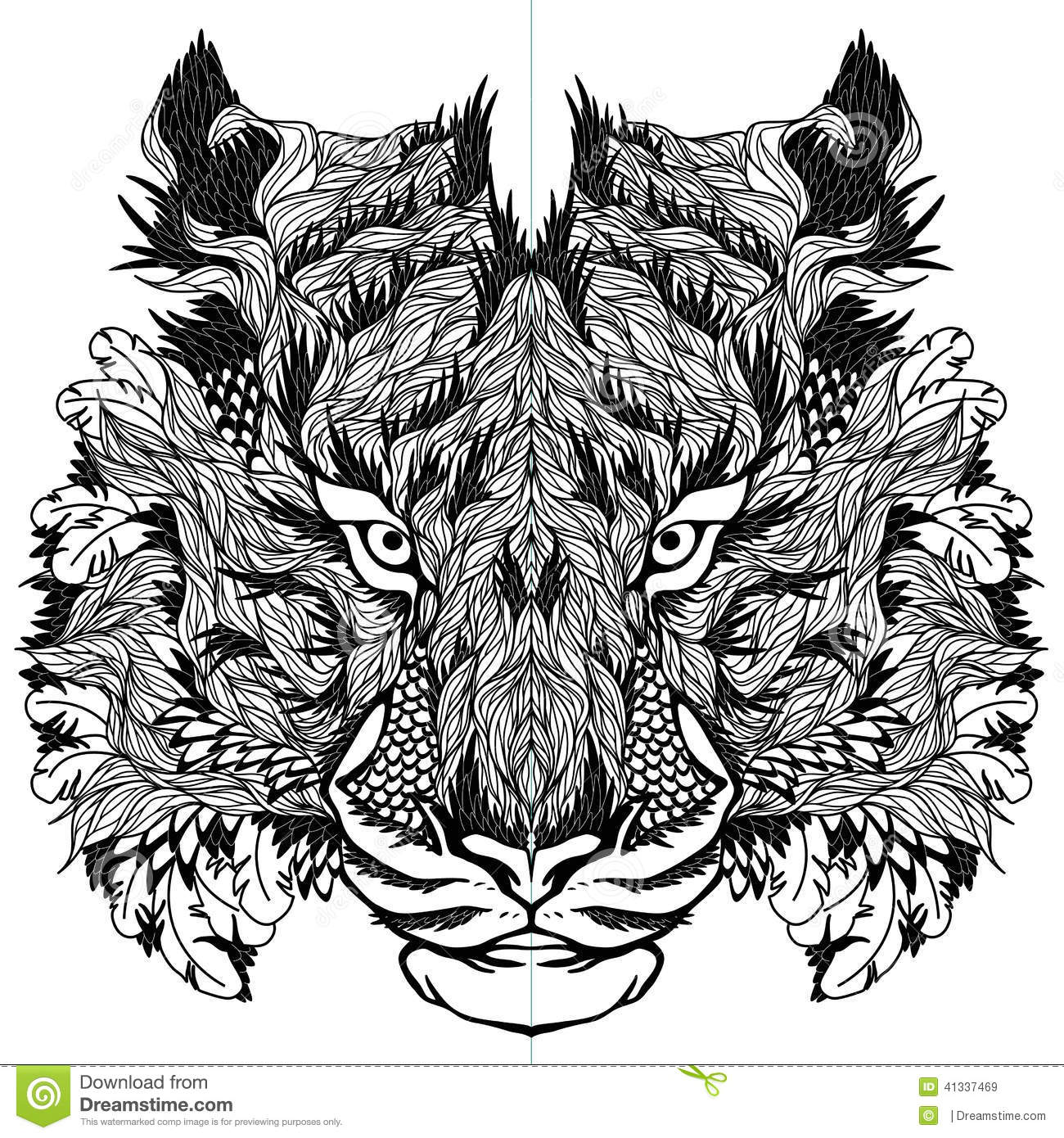 Psychedelic tiger tattoo - photo#4