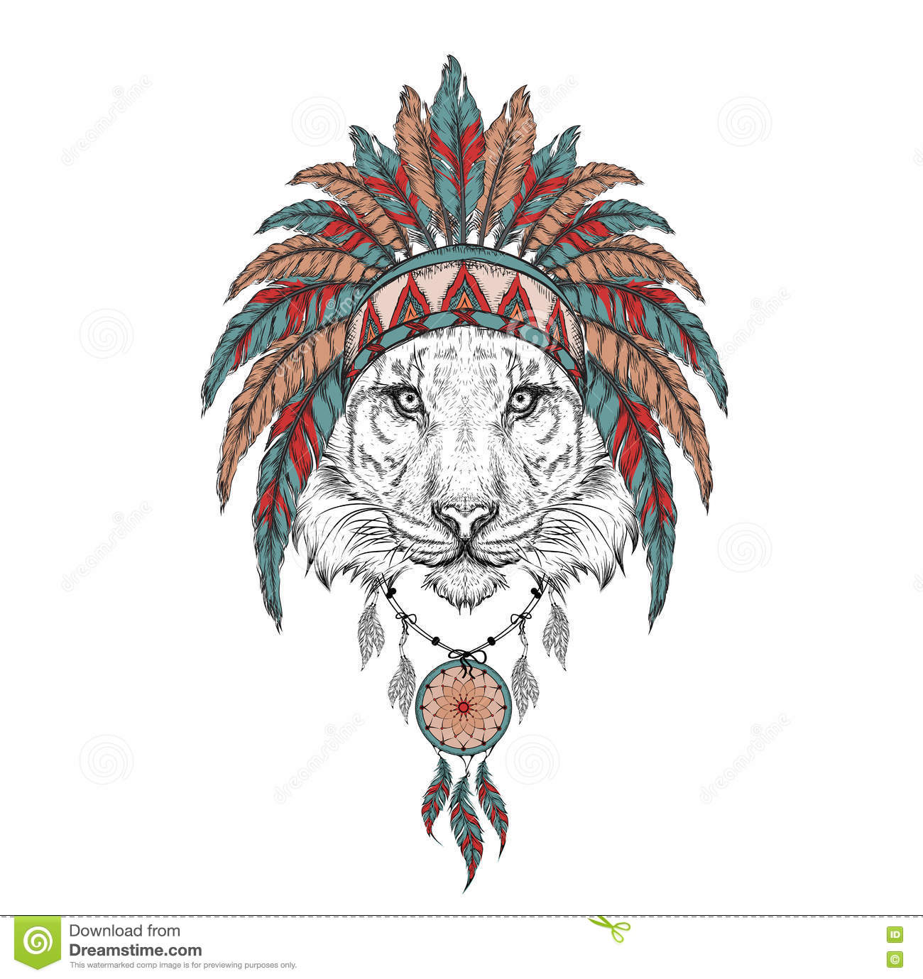 indian eagle feather drawing