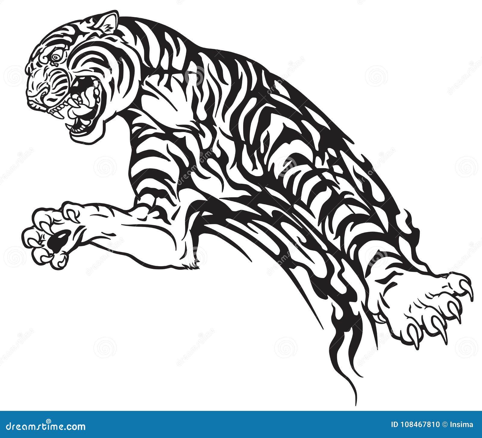 daf28ec98eb9f Tiger Tribal Stock Illustrations – 6,730 Tiger Tribal Stock Illustrations,  Vectors & Clipart - Dreamstime