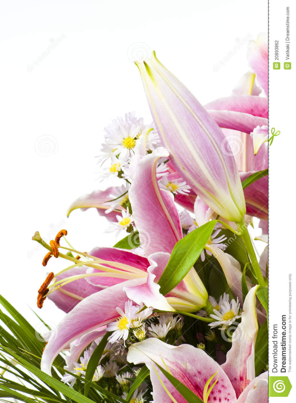 Tiger Lily Flower Arrangement Stock Photo Image Of Pink Beautiful