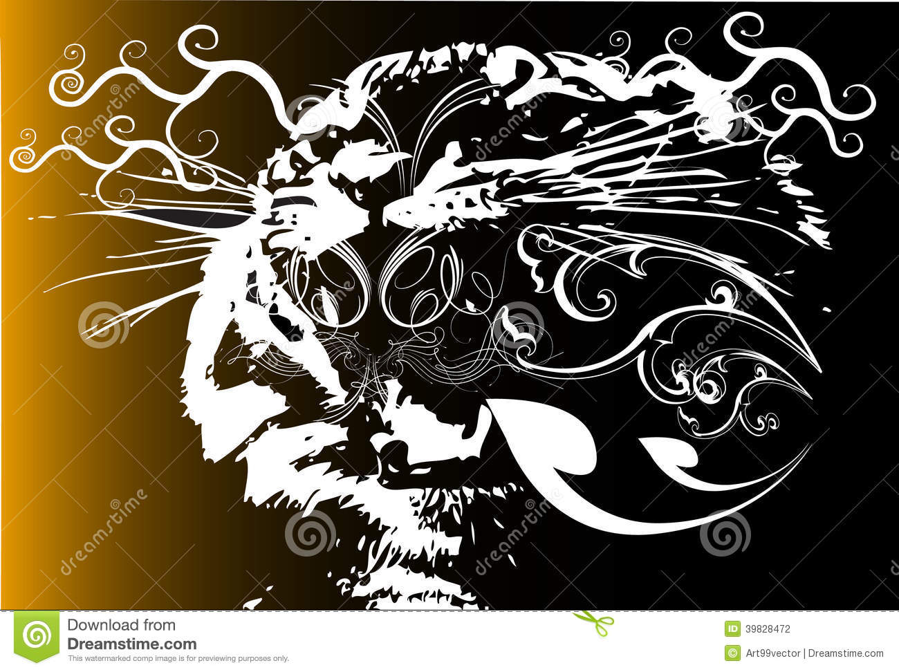 Line Design Ideas : Tiger and line design stock illustration of