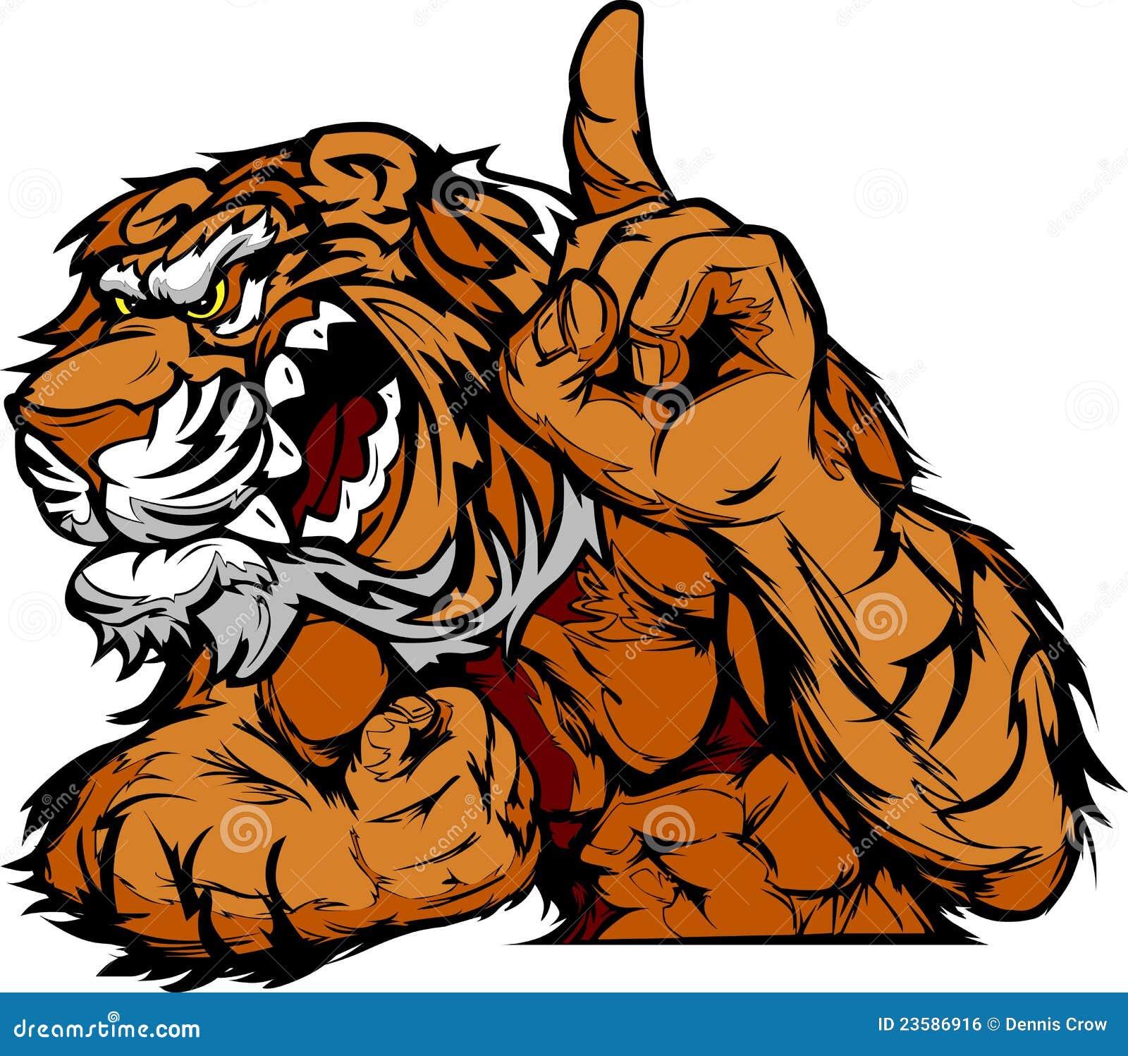 Tiger Mascot Body Cartoon Royalty Free Stock Image - Image ...