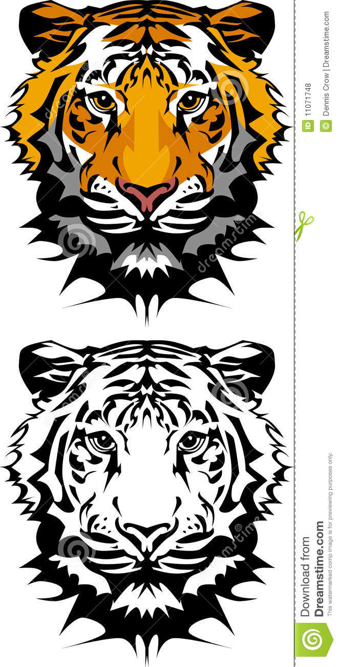 Tiger Mascot Vector Logo stock vector. Image of stripes ...
