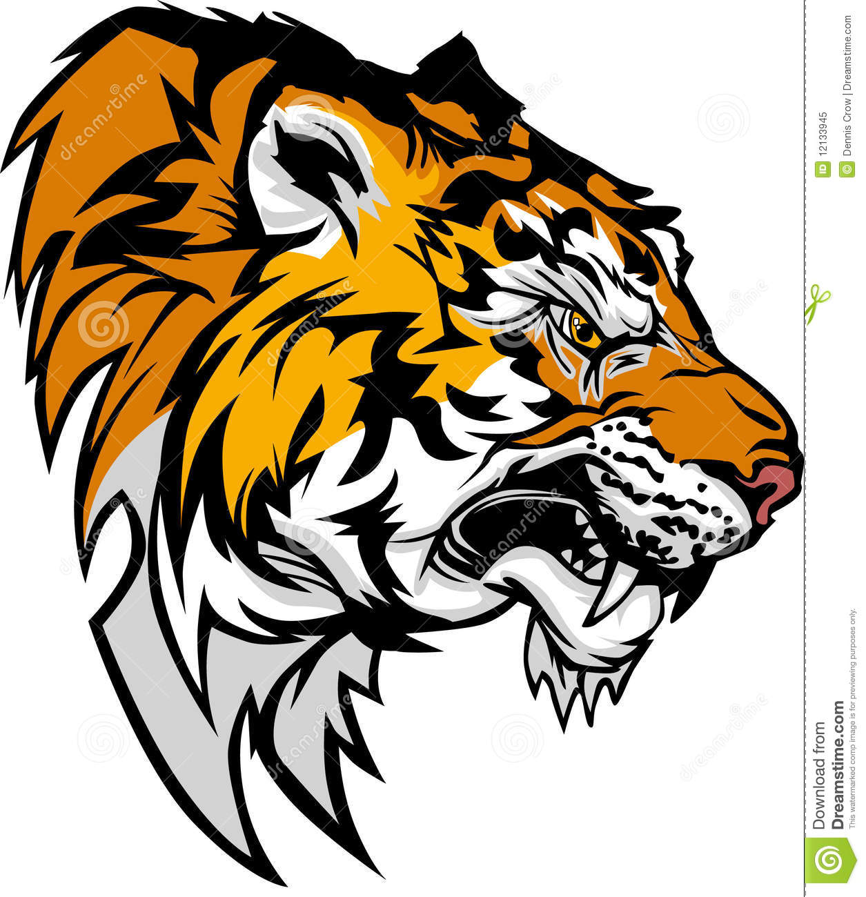 Tiger Mascot Vector Logo stock vector. Image of lions ...
