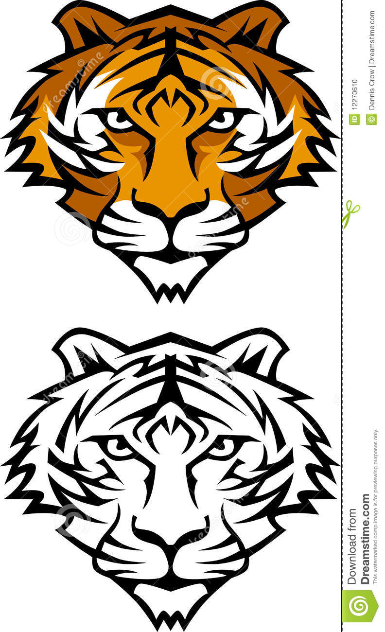 Tiger Mascot Vector Logo Stock Photo - Image: 12270610