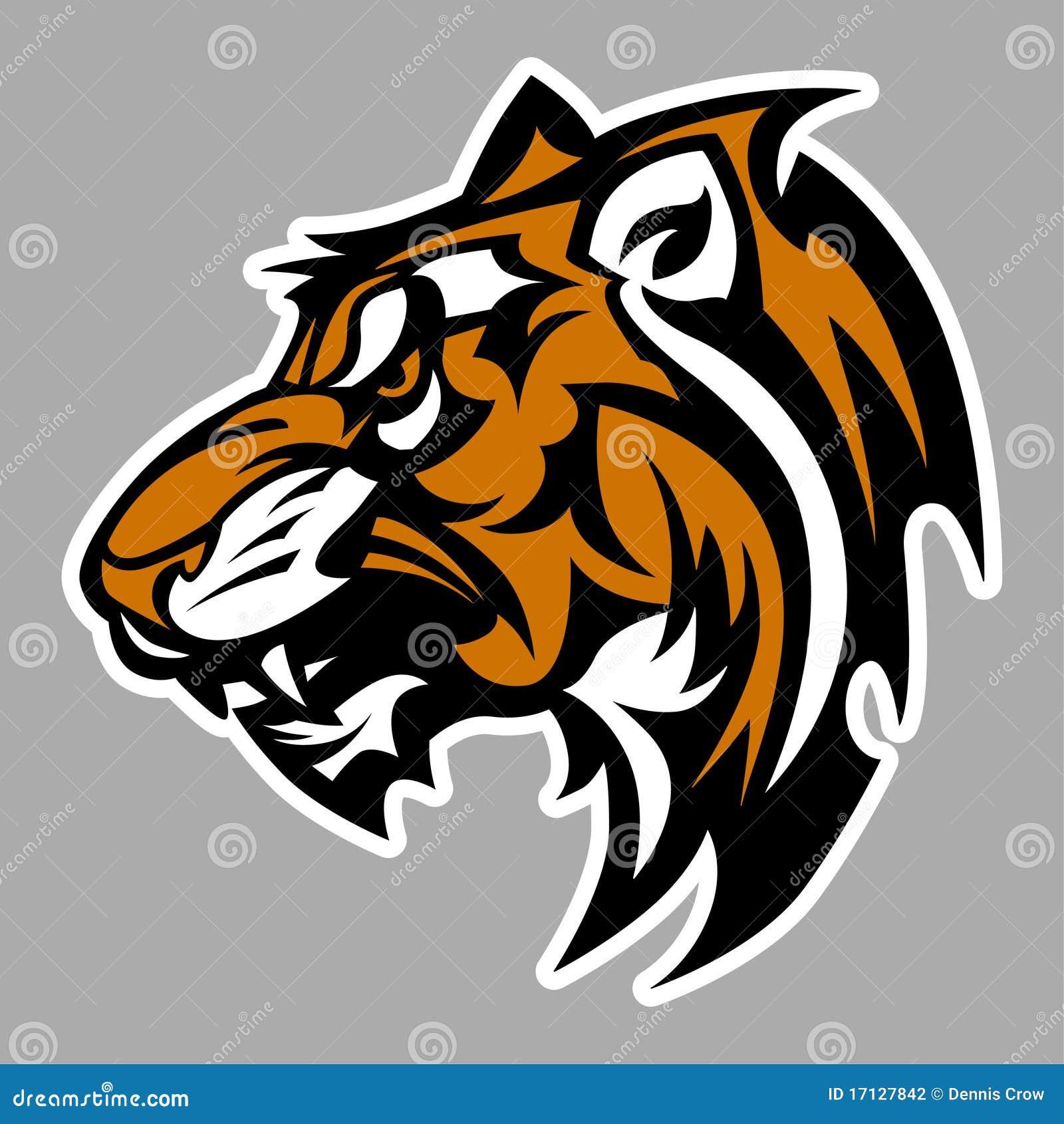 Tiger Mascot Vector Logo Stock Photography - Image: 17127842