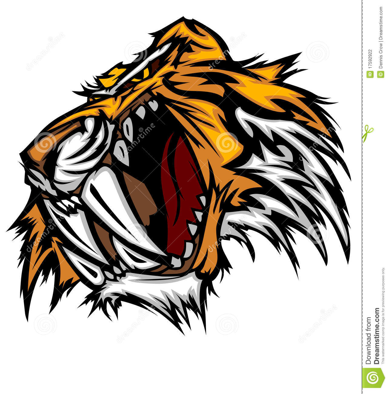 Tiger Mascot Vector Logo Stock Photography - Image: 17592922