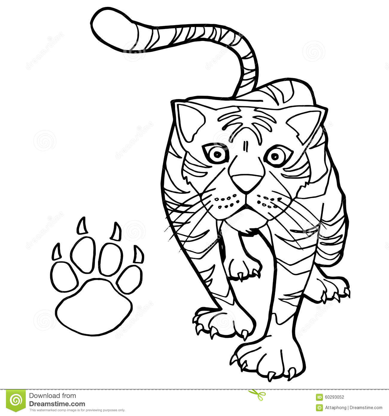 Cat paw print clip art clipartsco hot girls wallpaper for Tiger paw coloring page