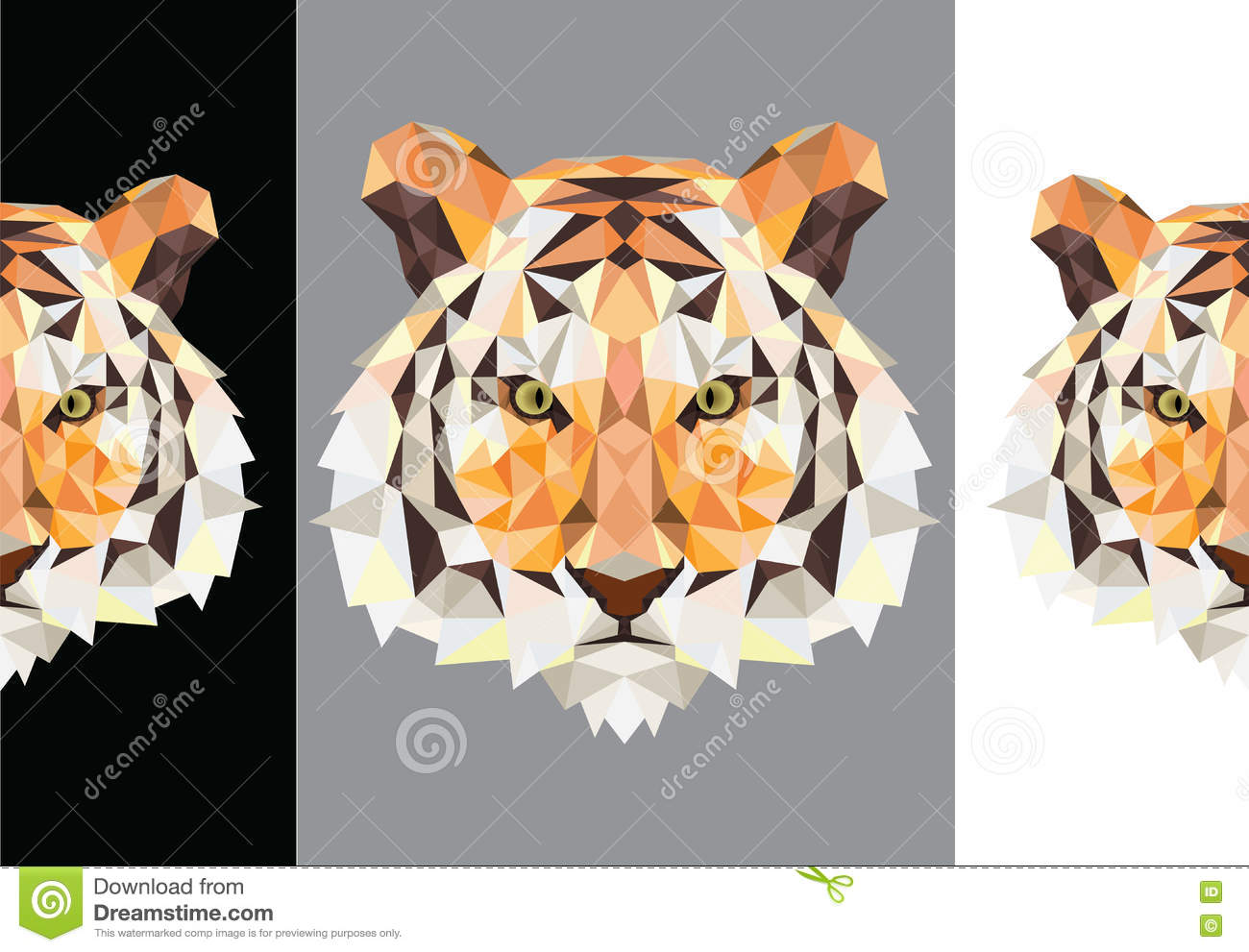 Tiger polygon