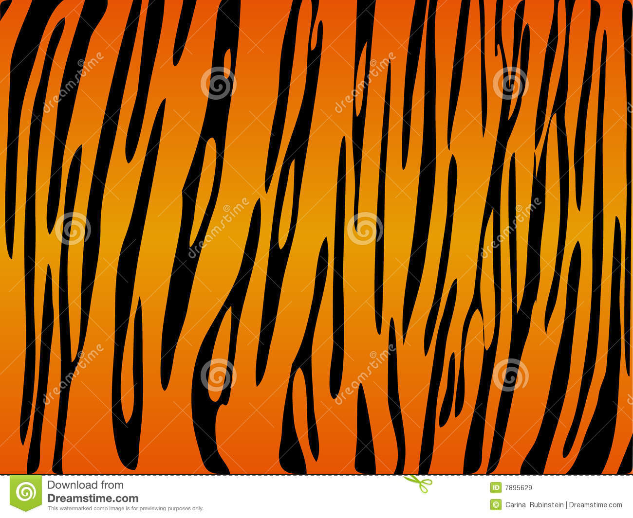 Tiger print background stock vector  Illustration of