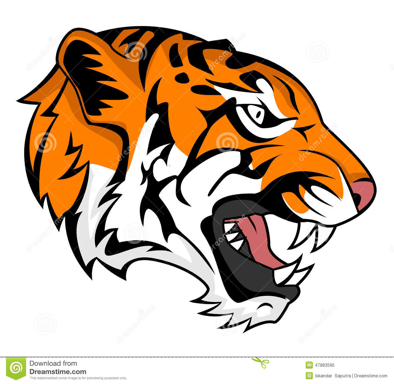 Tiger roar vector - photo#3
