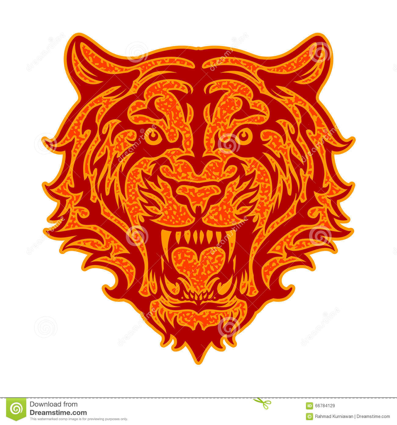 Tiger roar vector - photo#17