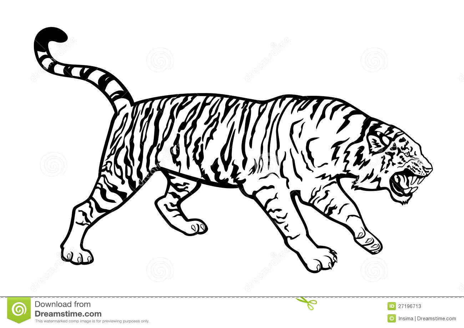 tiger schwarzweiss vektor abbildung illustration von bild 27196713. Black Bedroom Furniture Sets. Home Design Ideas