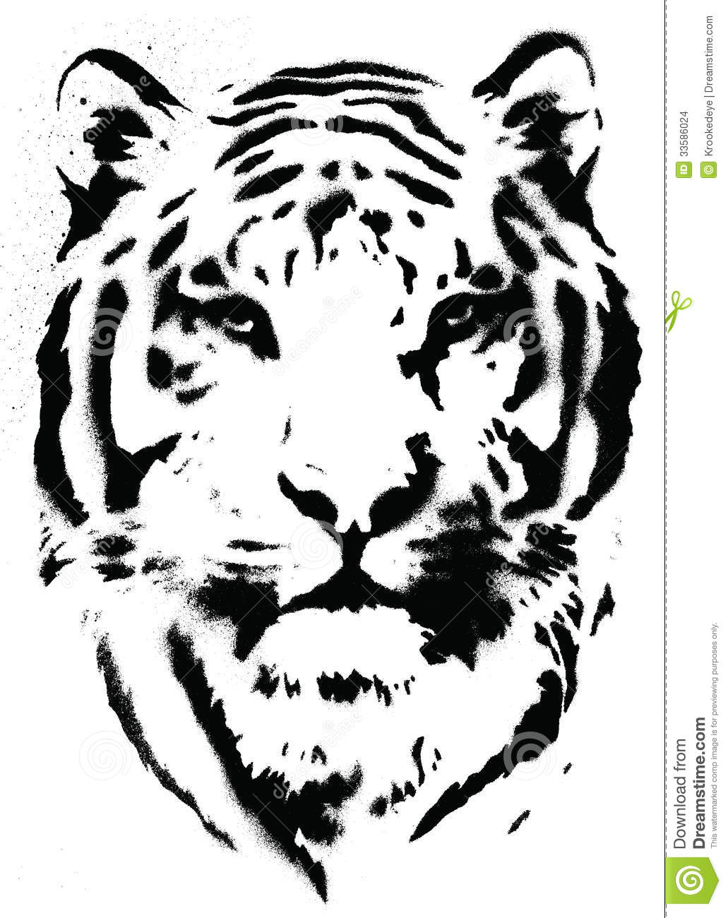Tiger Stencil Vector Stock Vector Image Of Shadow Fierce