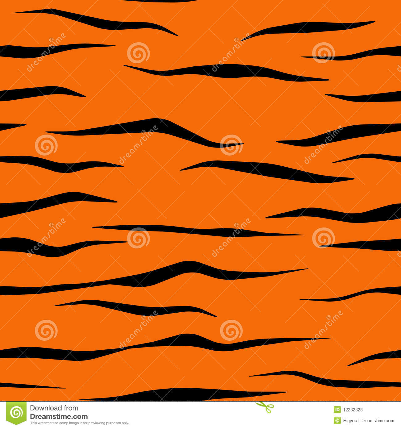 Tiger Stripe Pattern Tile Royalty Free Stock Photos - Image: 12232328