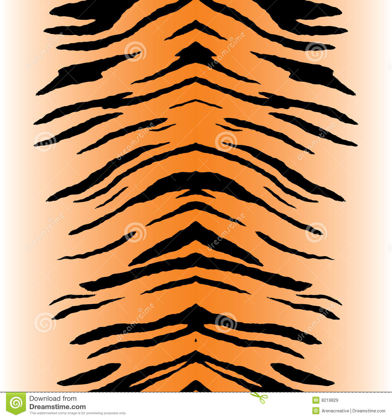 Tiger Stripes Vector Stock Vector Image Of Animals