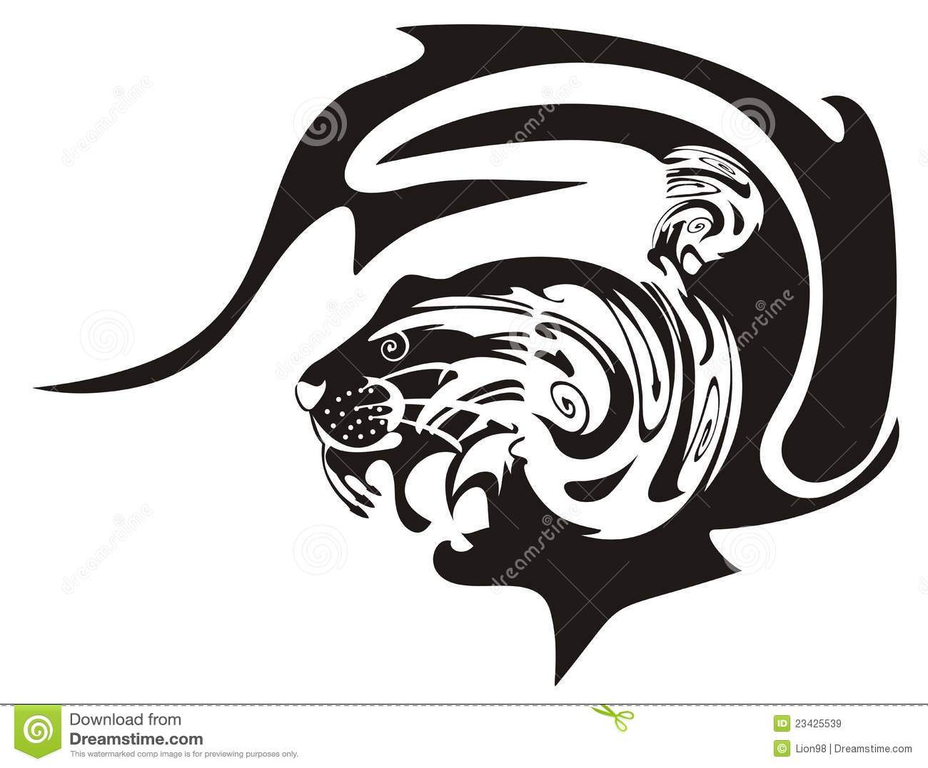 Tiger symbol stock vector illustration of mammal black 23425539 tiger symbol biocorpaavc