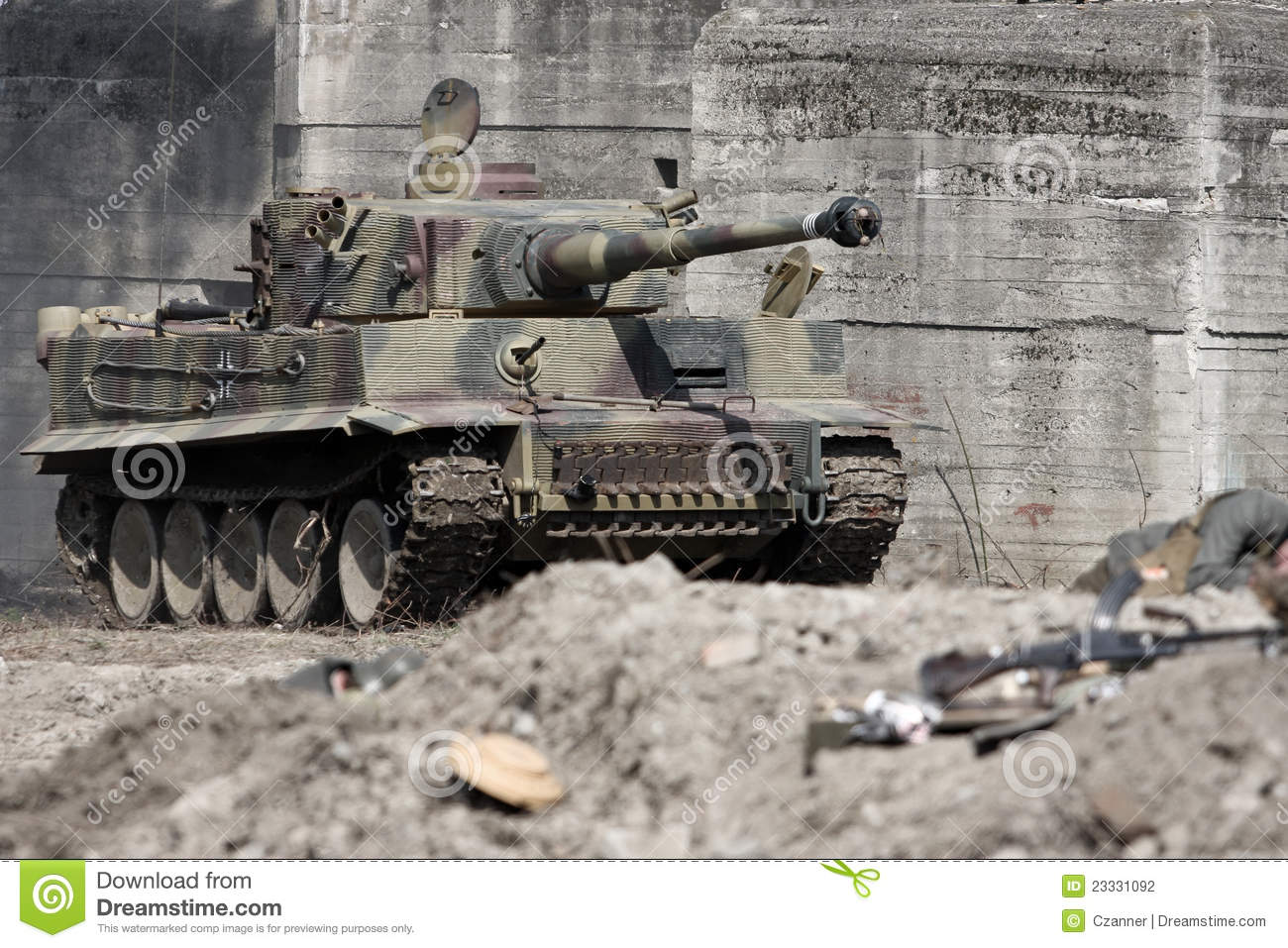Tiger Tank Stock Photography - Image: 23331092