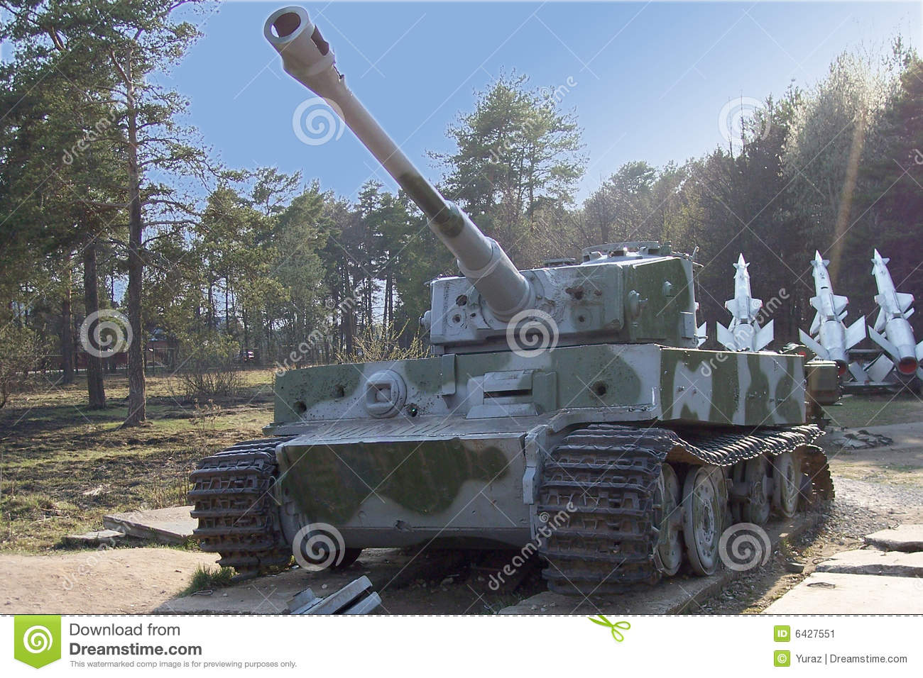 Famous Tiger tank at the openair museum in Russia.