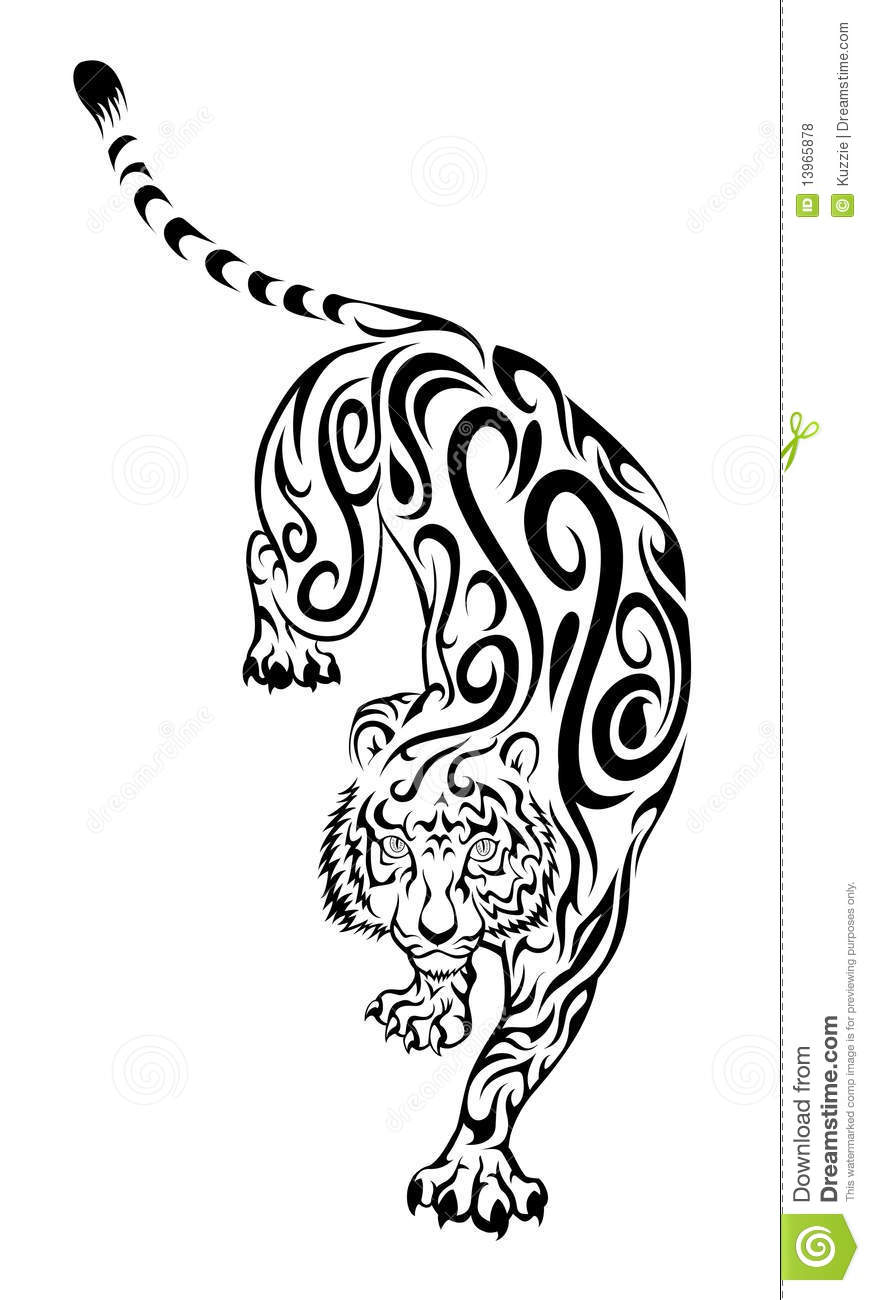 Tiger Tattoo Royalty Free Stock Photos - Image: 13965878